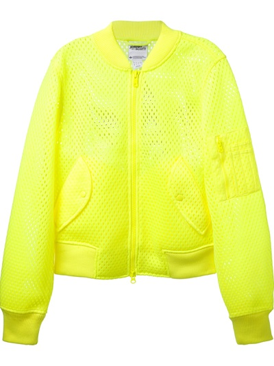 Adidas Originals By Jeremy Scott 'puff' Mesh Bomber Jacket - Penelope - Farfetch.com