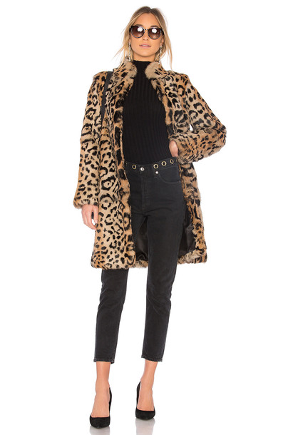 THE JETSET DIARIES coat fur coat fur brown