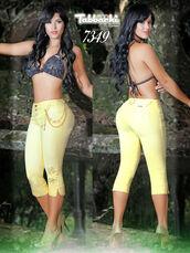 jeans,yallure,yallure.com,capri pants,tabbachi jeans,yellow,yellow pants,butt lifting jeans