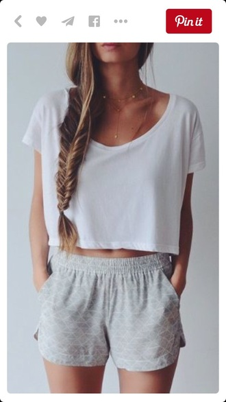shorts summer shorts outfit high waisted shorts summer outfits white top white crop tops