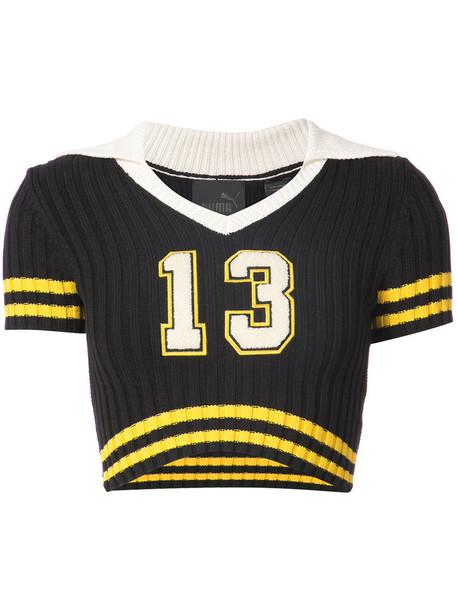Fenty x Puma jumper cropped jumper cropped women cotton black sweater