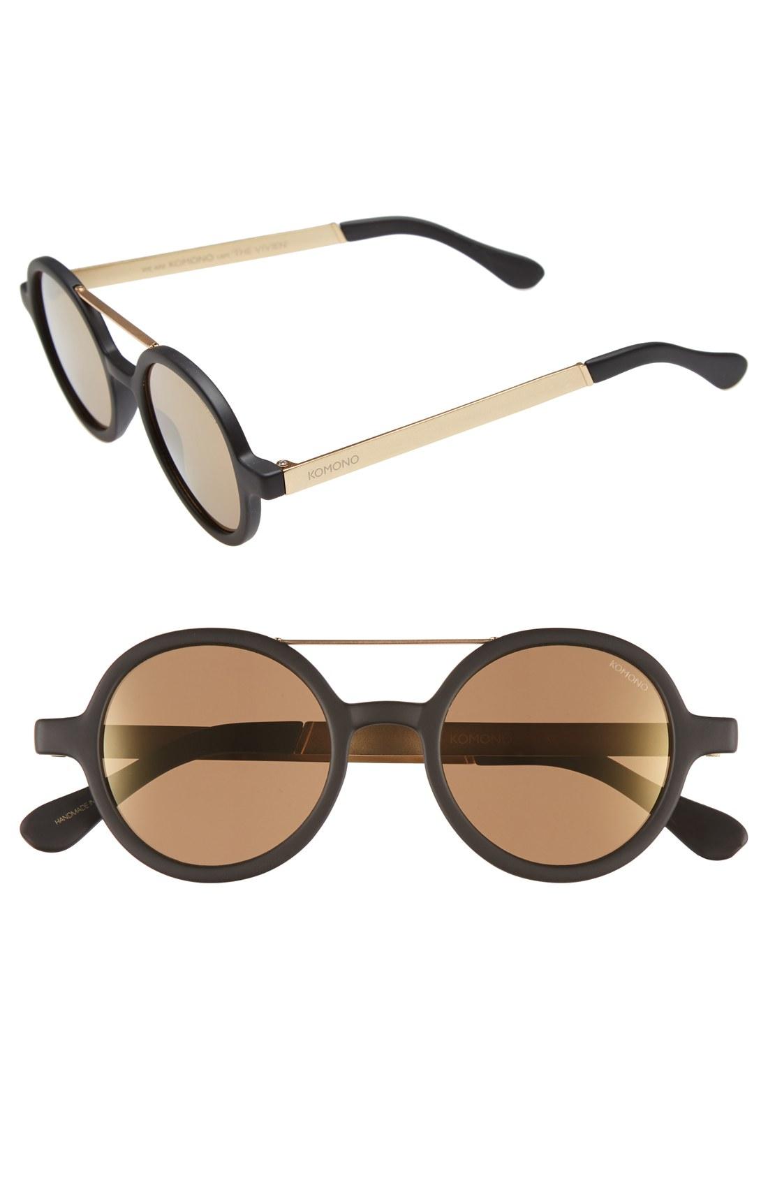 d5394ed65 Komono 'Vivien' Round Lens Sunglasses | Nordstrom