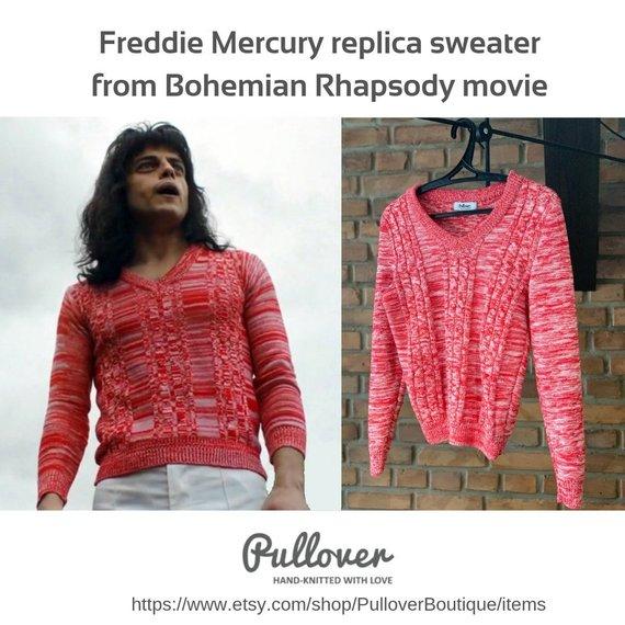 Freddie Mercury Rami Malek replica sweater from Bohemian Rhapsody movie