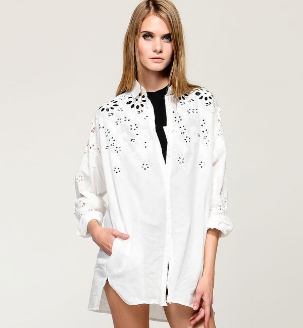 shirt pretty stylemoi white elegant streetstyle