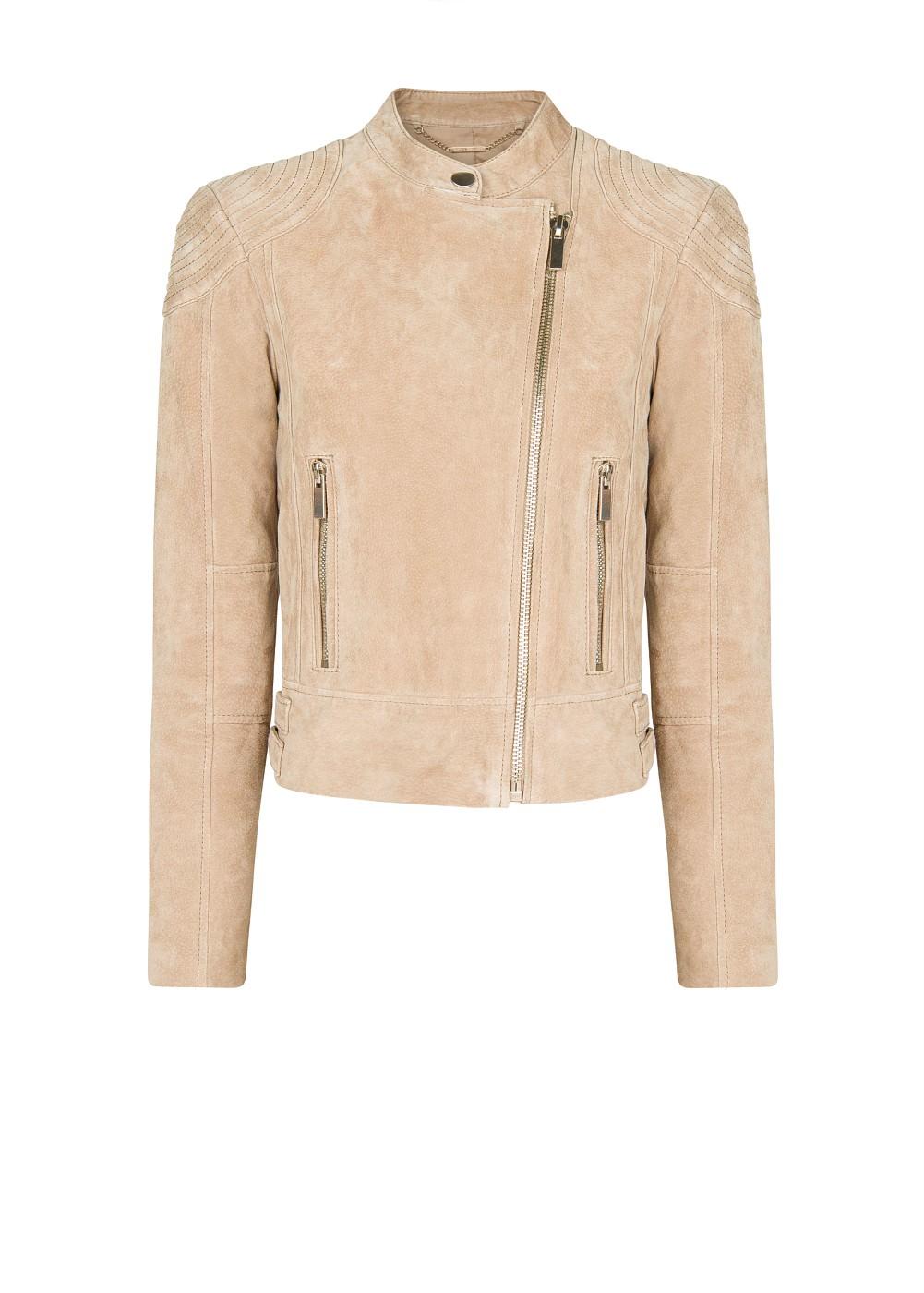 Peccary biker jacket -    Women - MANGO