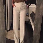 pants,white,high waisted,folded