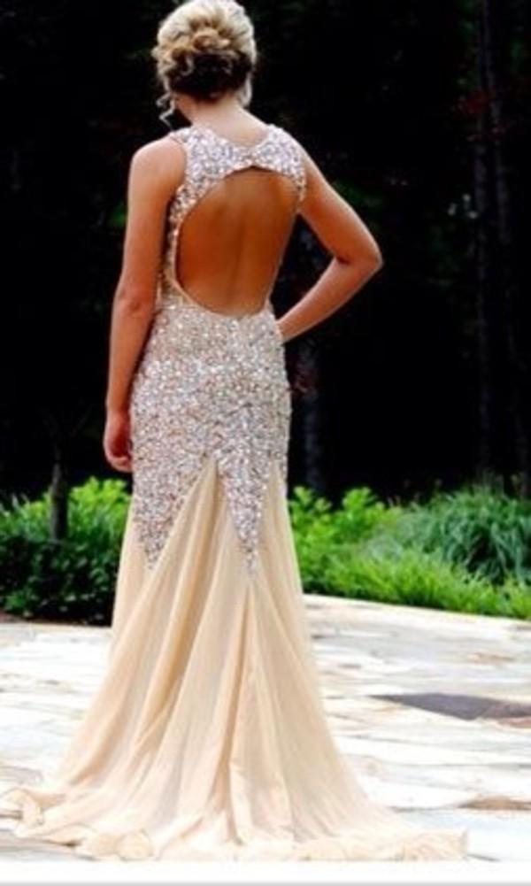 dress backless dress mermaid prom dress