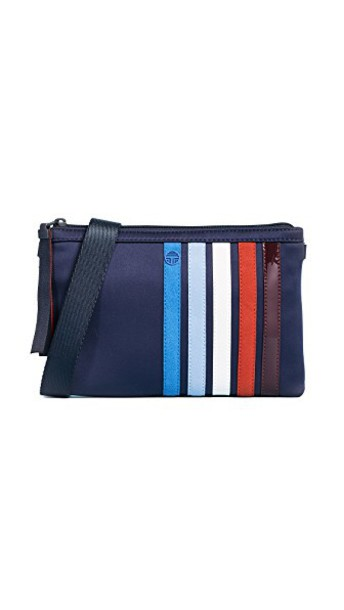 Tory Sport cross patchwork bag navy