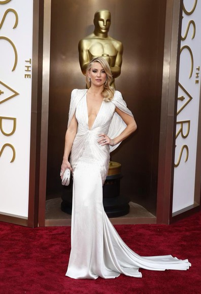 dress kate hudson white oscars