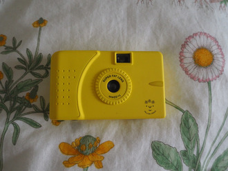 home accessory art hoe tumblr camera technology yellow tumblr girl