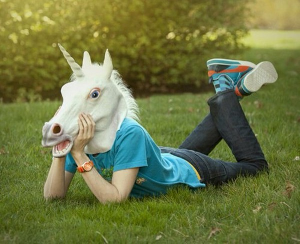 unicorn head hat shoes man clothes