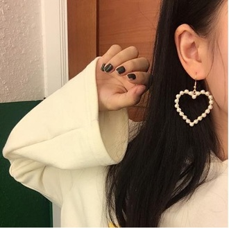 jewels heart earrings