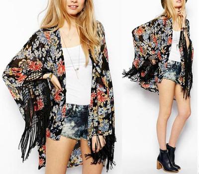 Gypsy love floral fringe kimono · fashion struck · online store powered by storenvy