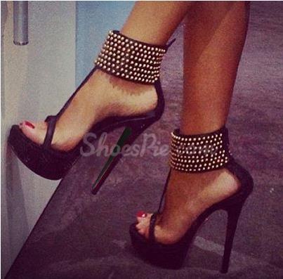 Amazing ankle strap rhinestone dress sandals