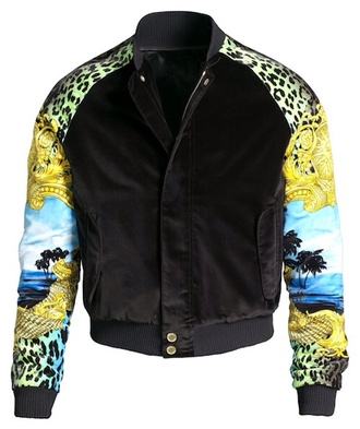 jacket bomber jacket black leopard print green yellow blue fashion zip up coat