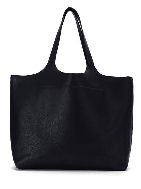 OSKLEN women bag tote bag leather tote bag leather black