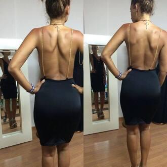 dress backless backless dress black dress midi dress sexy dress