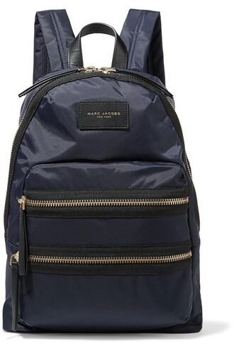 shell backpack leather blue bag
