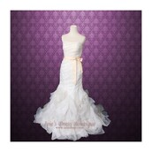 dress,cecilia,on point clothing,strapless,organza,mermaid prom dress