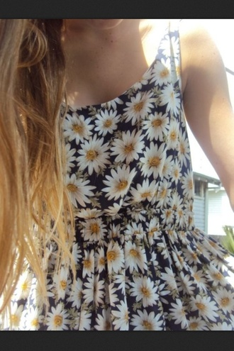 dress flowers daisy floral blue