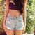 Vintage 501 Highwaisted Super Distressed Studded Levi Shorts.