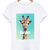 Hola funny giraffe white t shirt
