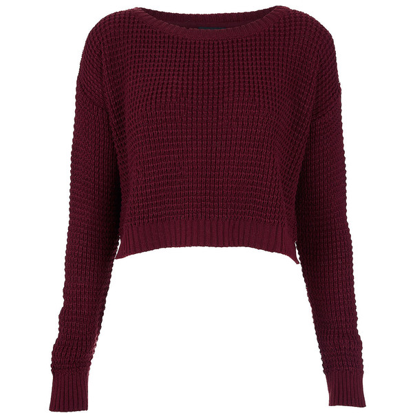 TOPSHOP Knitted Textured Crop Jumper - Polyvore