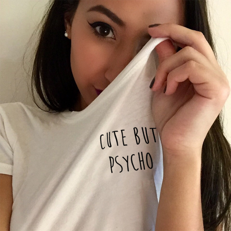 Cute But Psycho T Shirt in White – Bittersweet