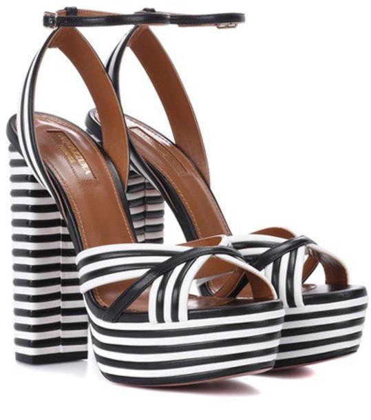 Aquazzura sandals leather sandals leather shoes