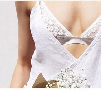 tank top lace bralette lace bra white lace white lace bra