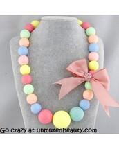 jewels,cute necklace,style,fashion,cute jewlry,colourful necklace,bead necklace,big necklaces