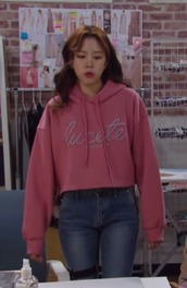 sweater,pink,cool,kdrama,k-dramas,hoodie,korean fashion,style,fashion,hair,jeans,pretty,girl,casual,casual hoodie,ulzzang,seoul,fashion brands,lipstick,love,obssesed,streetstyle,be fashionable,graphic hoodies,rose,actress,2018,hot,cute,body,hairstyles