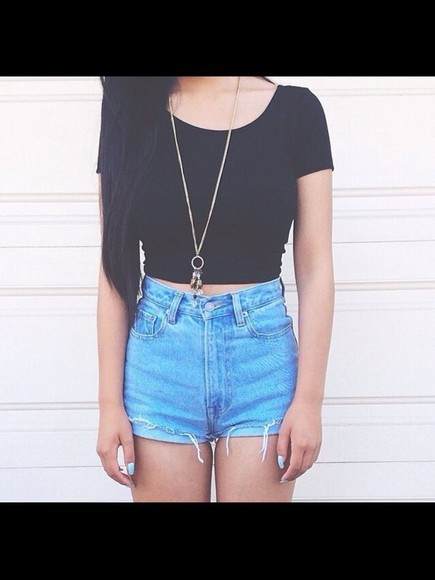 High waisted shorts top jewels ripped shorts