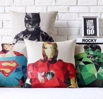 home accessory superman superheroes pillow hipster hulk batman marvel superheroes