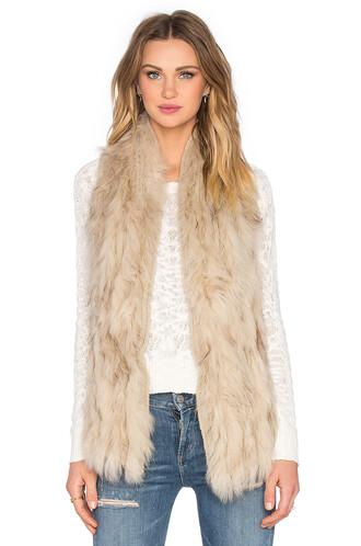 vest fur vest fur liberty brown