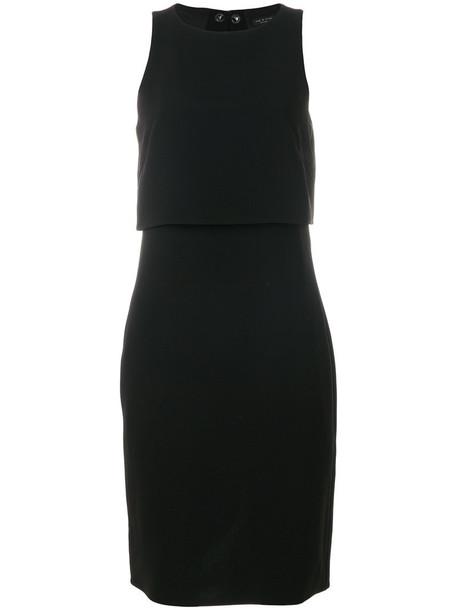 Rag & Bone dress women layered cotton black