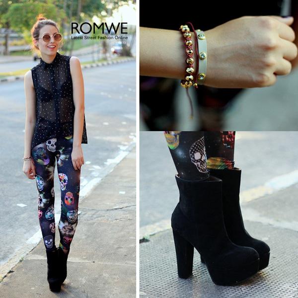 ROMWE   UV Protection Tawny Rounded Sunglasses, The Latest Street Fashion