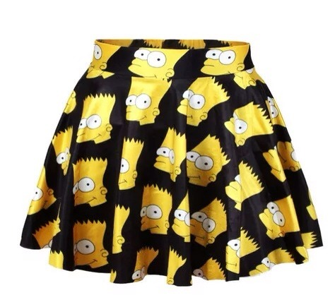 Bart simpson skater skirt from new arrival on storenvy