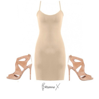 bustier dress nude dress nude heels high heels