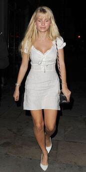 dress,white,white dress,lottie moss,pumps
