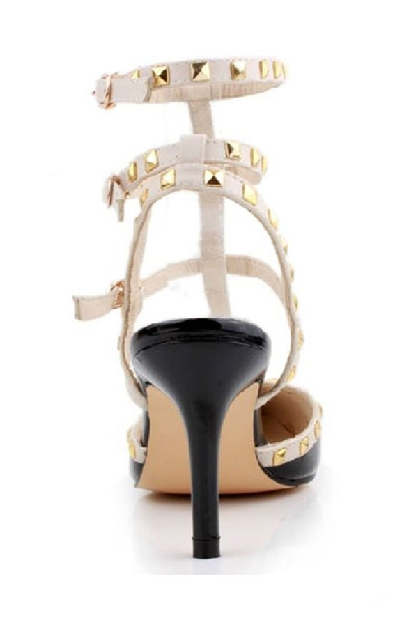 Studded Contrast Stilettos - OASAP.com