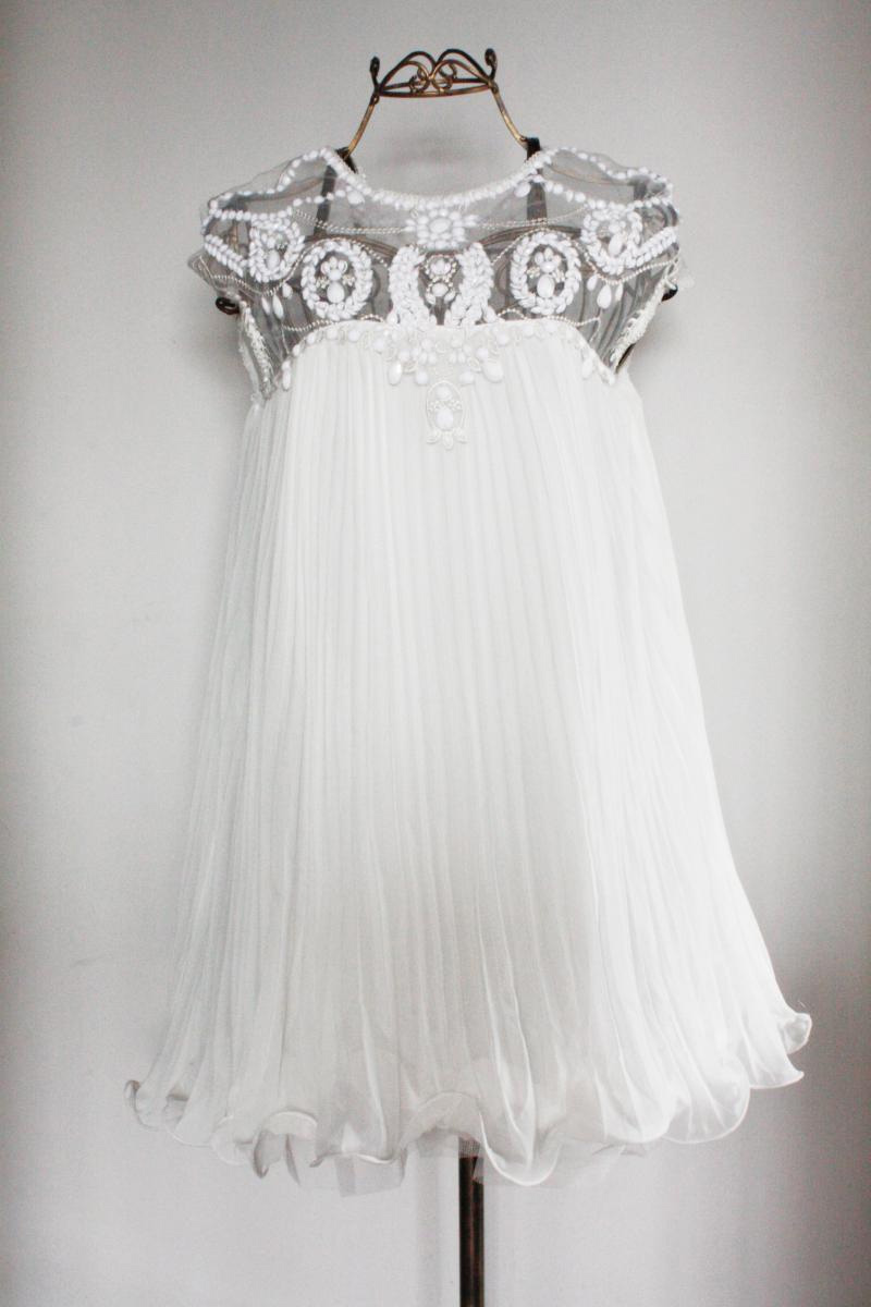 Eyelet Pleated Bead Dress