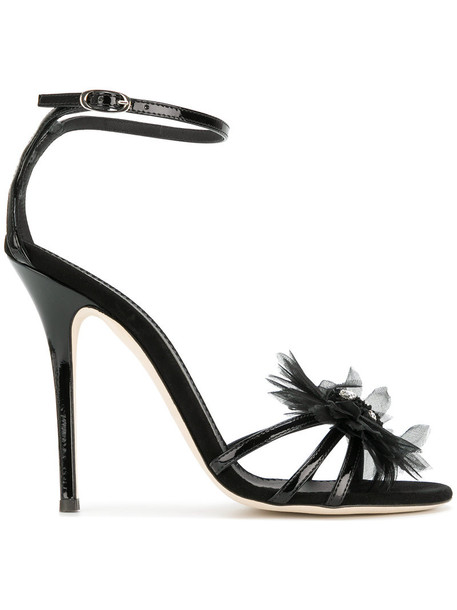 GIUSEPPE ZANOTTI DESIGN women sandals leather black shoes