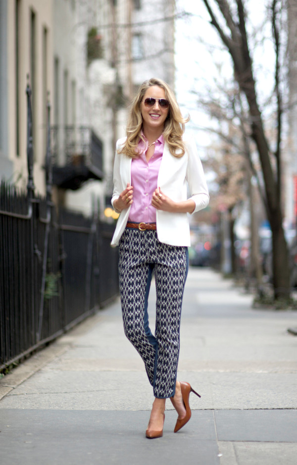 the classy cubicle pants shirt jacket shoes sunglasses belt jewels