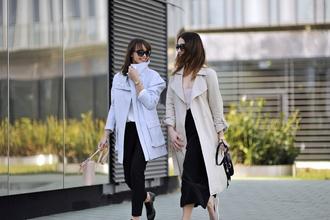 shiny sil blogger blouse coat bag shoes jewels