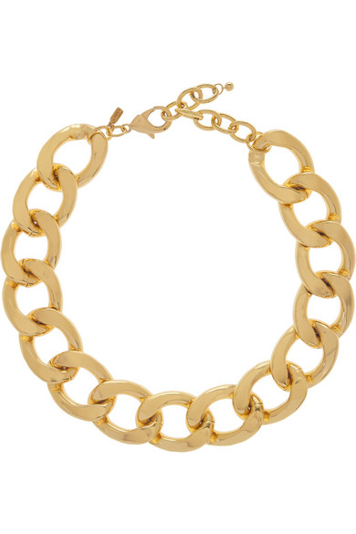 Kenneth Jay Lane | Gold-plated chain-link necklace | NET-A-PORTER.COM