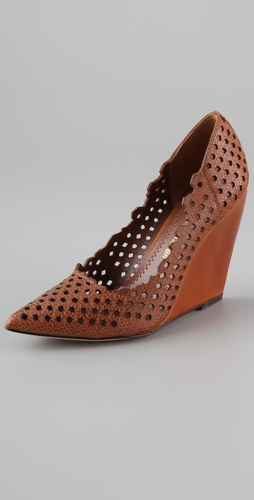 Michel cazabat pam cutout wedge heels