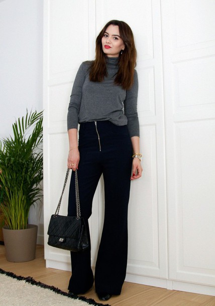 by funda blogger pants bag shoes