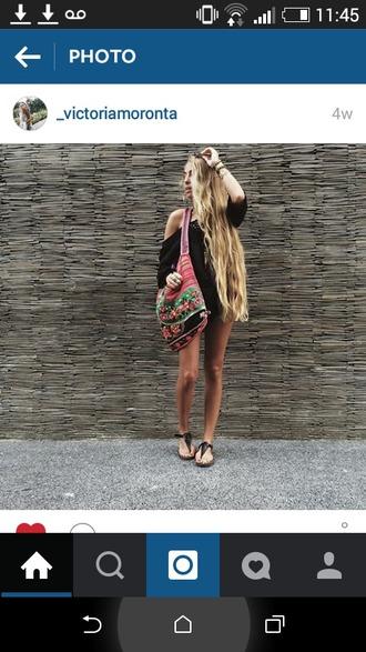 bag handbag shoulder bag pattern tribal pattern boho indie