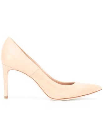pointed toe pumps women pumps leather nude shoes